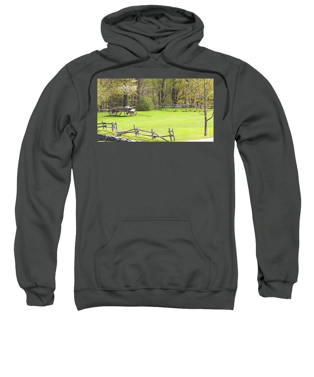 Spring Sweatshirt featuring the photograph Vermont Buck Board by Deborah Benoit