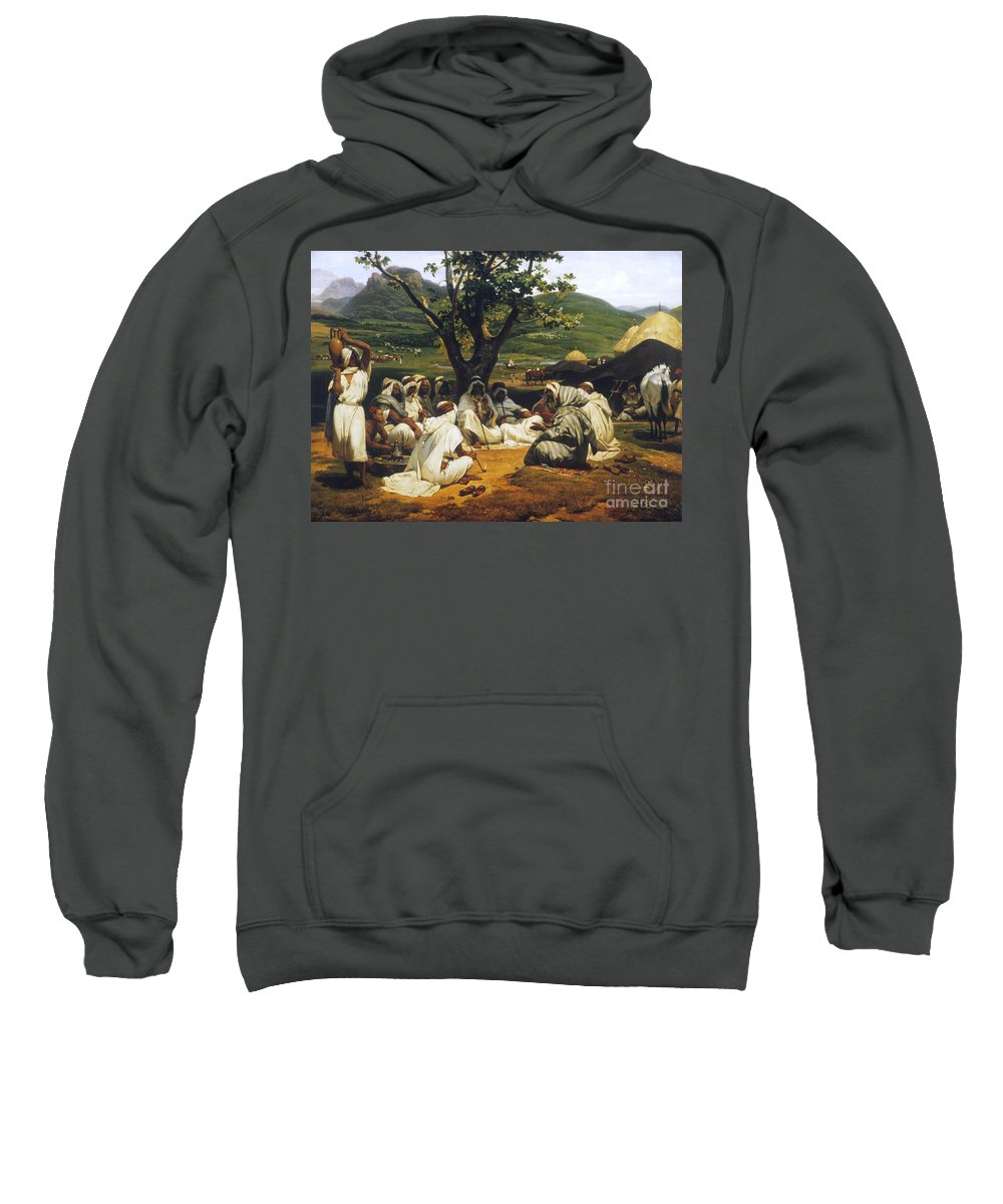 1833 Sweatshirt featuring the photograph Vernet: Arab Tale-teller by Granger