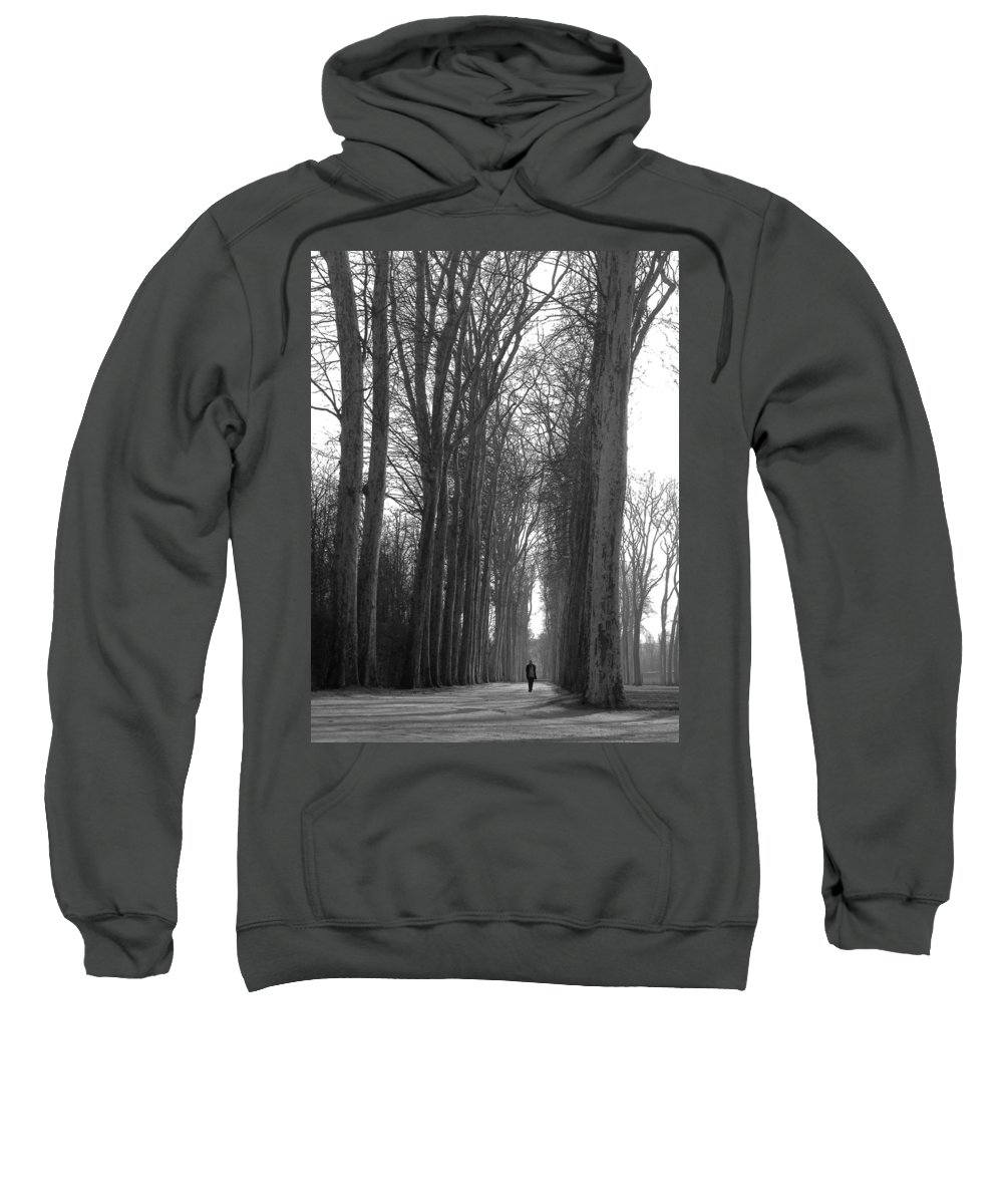 Landscape Sweatshirt featuring the photograph Versailles Trees by Thomas Morris