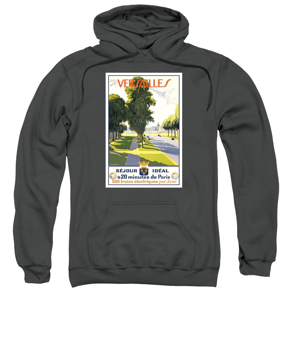 Versailles Travel Poster Sweatshirt featuring the painting Versailles Travel Poster by Pd