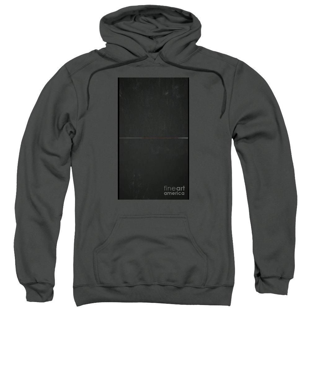 Blackboard Divided Sweatshirt featuring the painting Vertical Blackboard by Archangelus Gallery