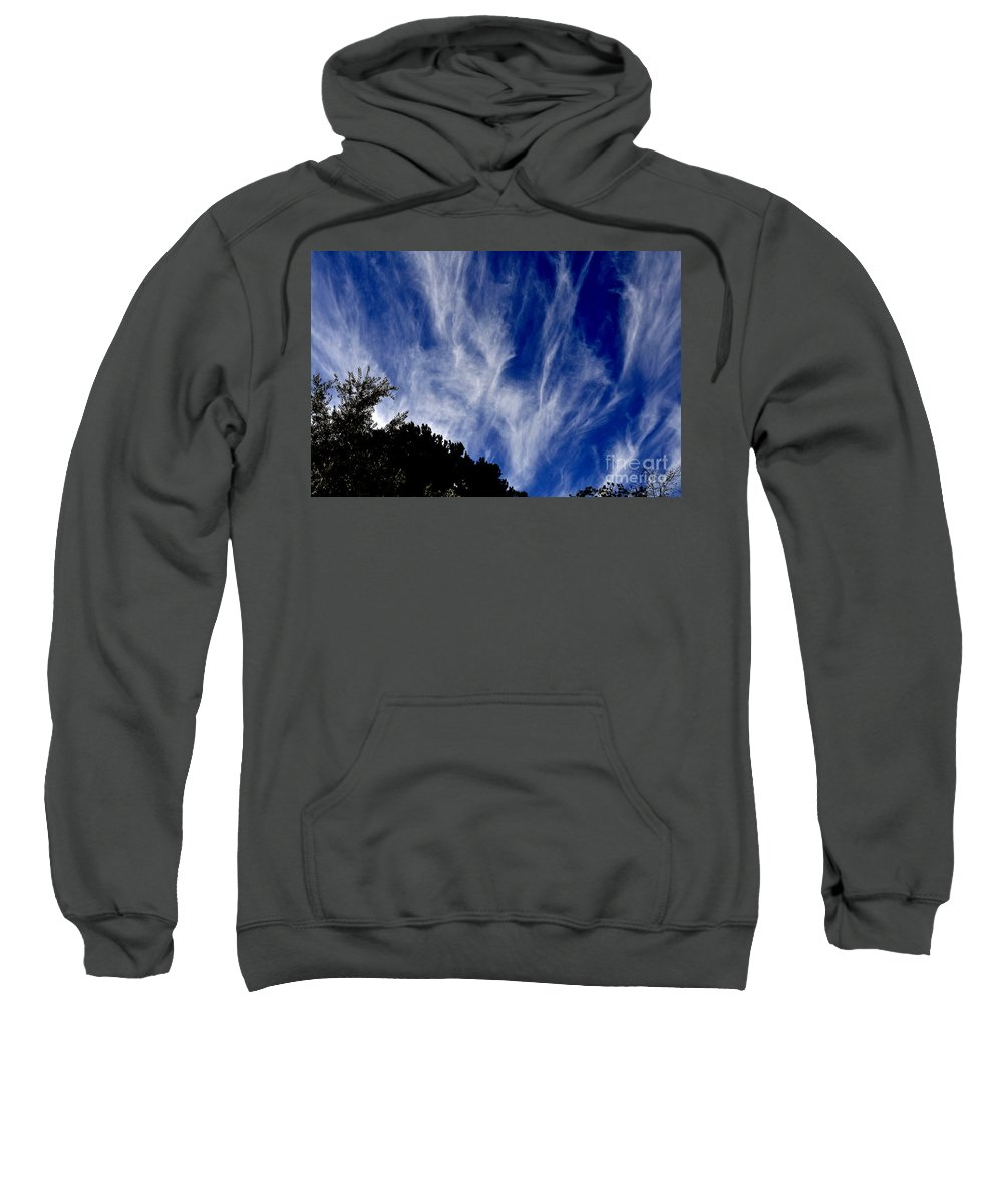 Clay Sweatshirt featuring the photograph Vertical Clouds by Clayton Bruster