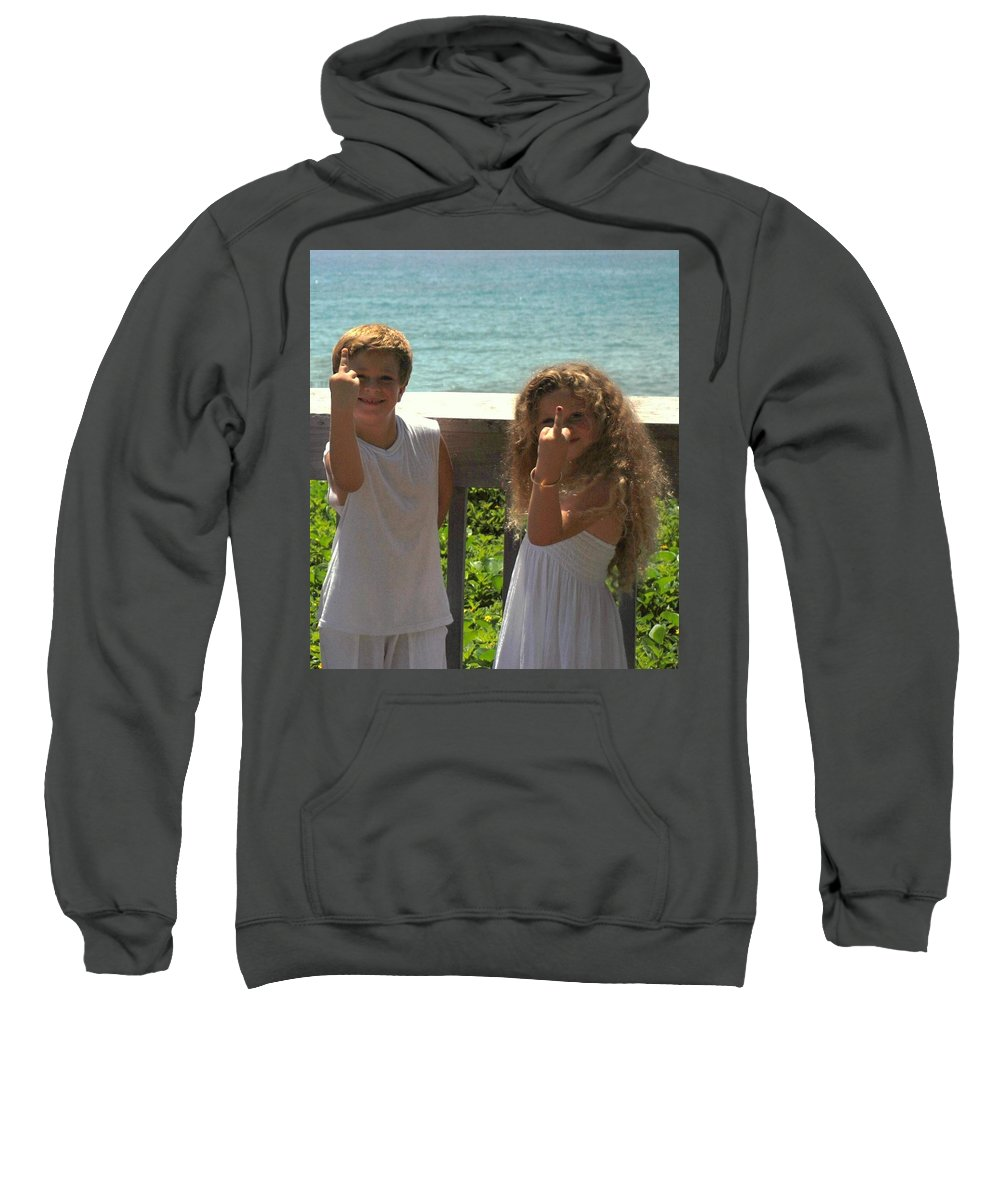 Kids Sweatshirt featuring the photograph Very Naughty Angels by Rob Hans