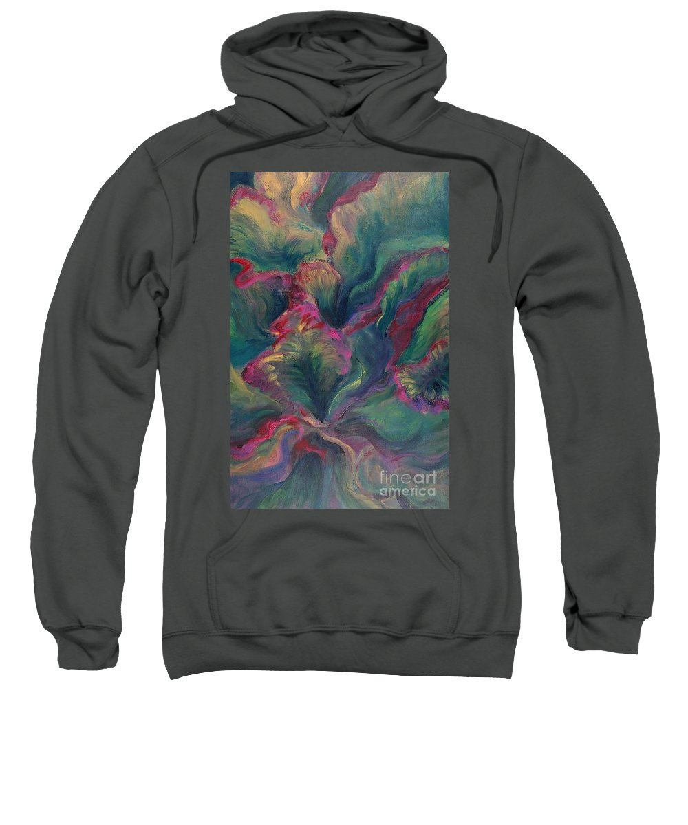 Leaves Sweatshirt featuring the painting Vibrant Leaves by Nadine Rippelmeyer
