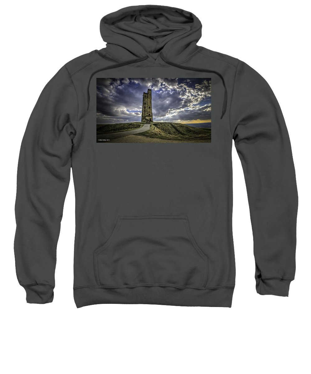 Victoria Tower Sweatshirt featuring the photograph Victoria Tower Castle Hill Huddersfield 2 by Mike Walker