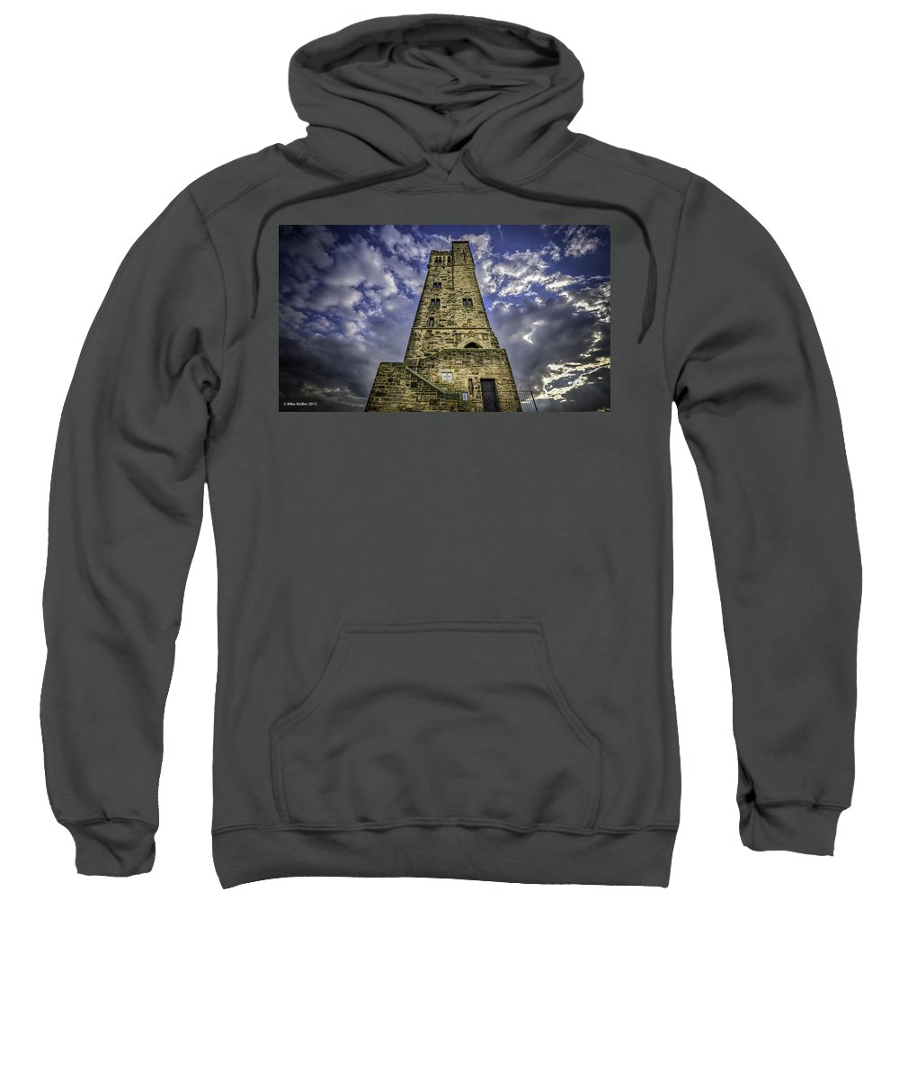 Victoria Tower Sweatshirt featuring the photograph Victoria Tower Castle Hill Huddersfield 4 by Mike Walker