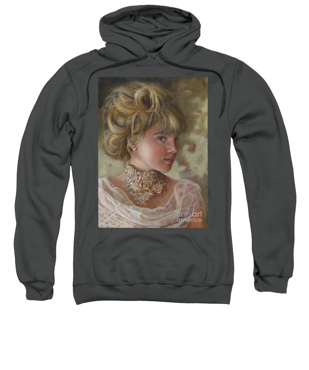 Figurative Art Sweatshirt featuring the painting Victorian Beauty by Portraits By NC
