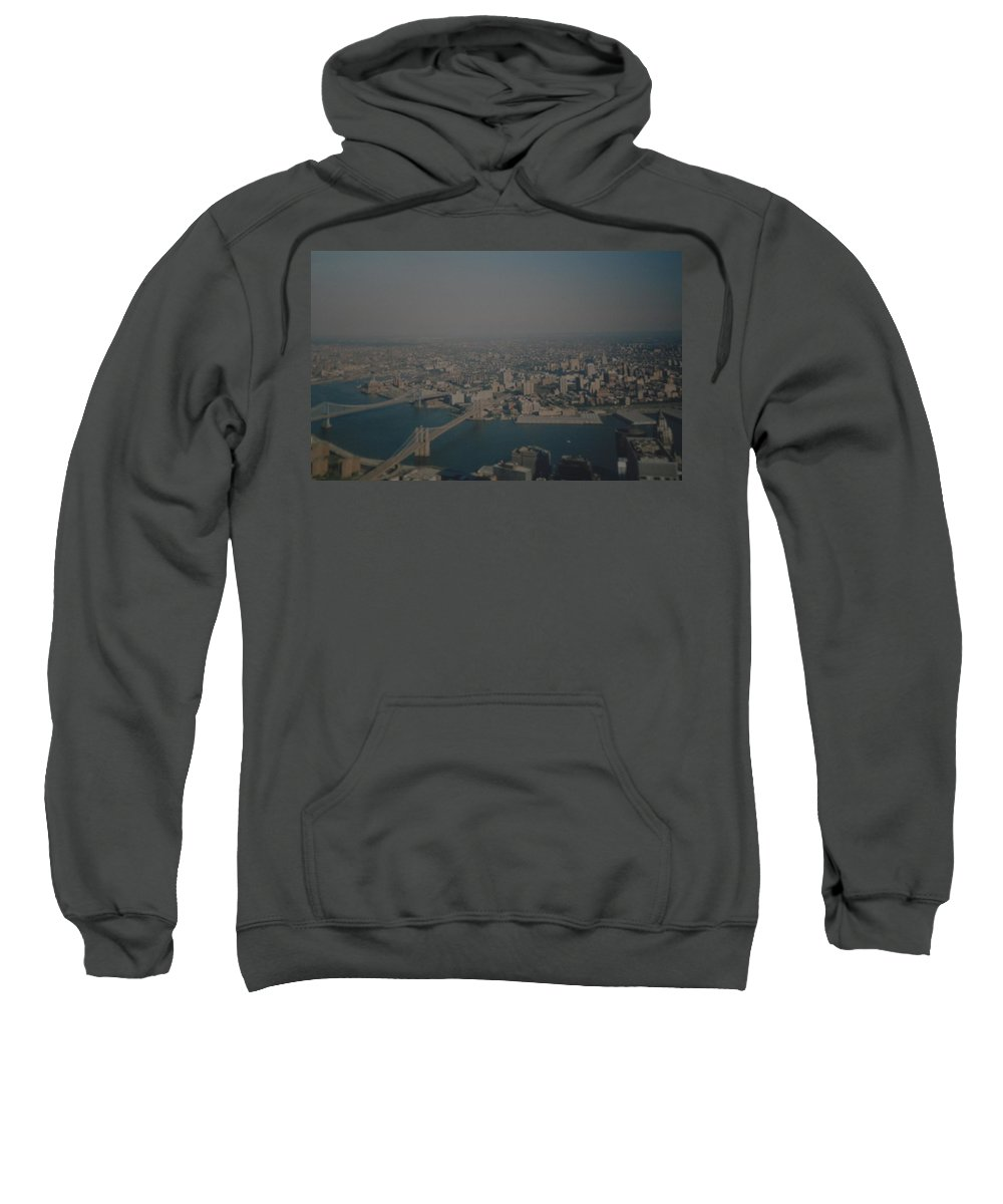 Wtc Sweatshirt featuring the photograph View From The W T C by Rob Hans