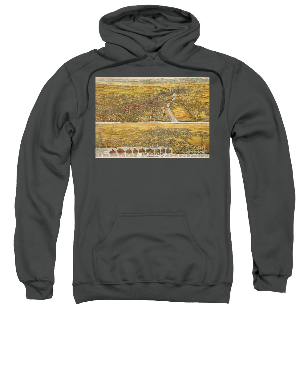 1894 Sweatshirt featuring the photograph View Of Los Angeles, 1894 by Granger
