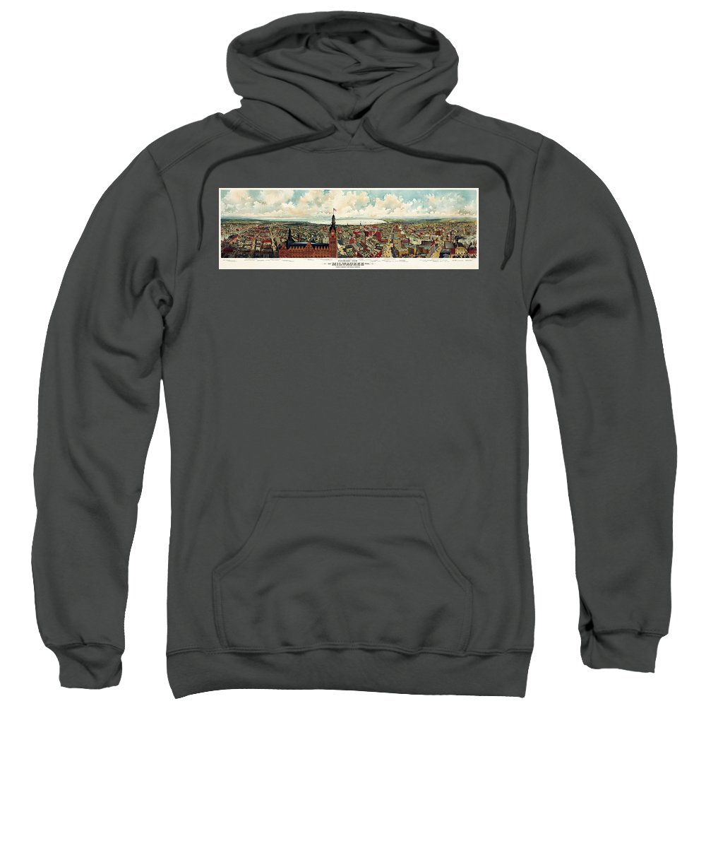 Milwaukee Sweatshirt featuring the photograph View Of Milwaukee 1898 by Andrew Fare