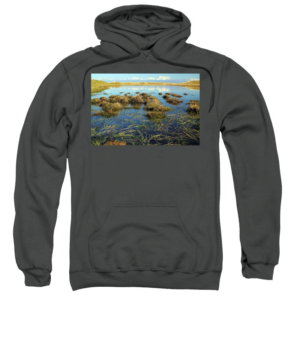 Marsh. Ireland Sweatshirt featuring the photograph View Of The Marsh by Jennifer Robin