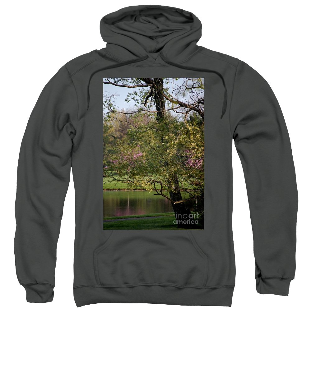 Landscape Sweatshirt featuring the photograph View Out My Office Window. by David Lane
