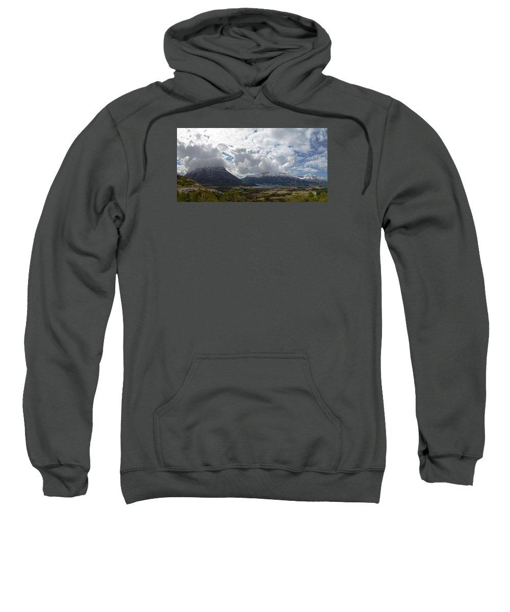 Norwegen Sweatshirt featuring the photograph View Over Gullstein by Hannes Bielefeldt