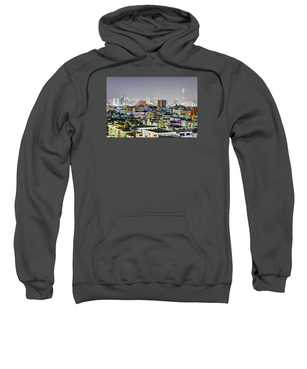 Bangkok Sweatshirt featuring the photograph View Ratchada by Jaren Horsley