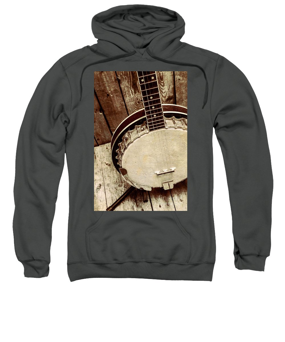 String Sweatshirt featuring the photograph Vintage Banjo Barn Dance by Jorgo Photography - Wall Art Gallery