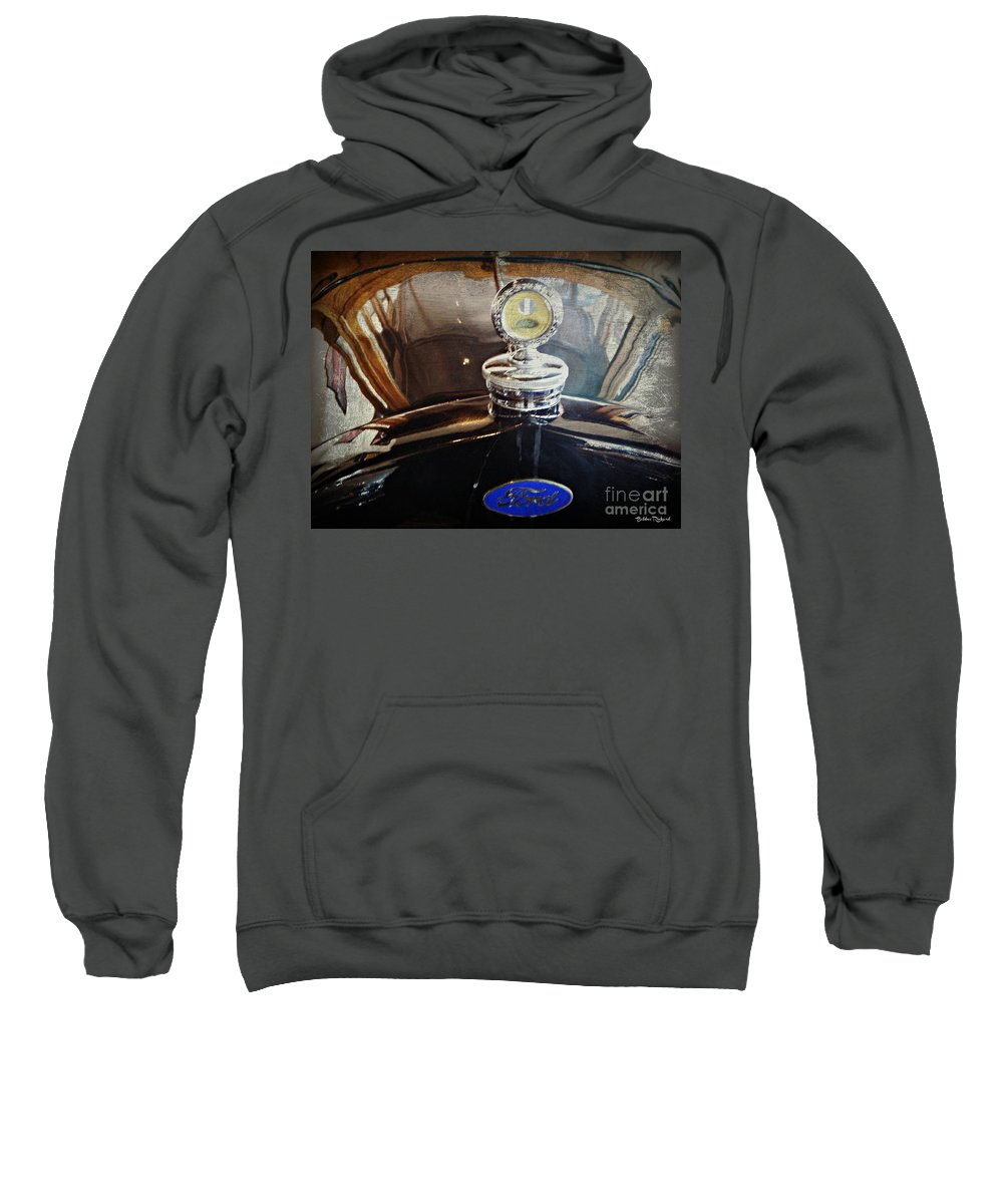 Ford Sweatshirt featuring the photograph Vintage Classic Art by Bobbee Rickard