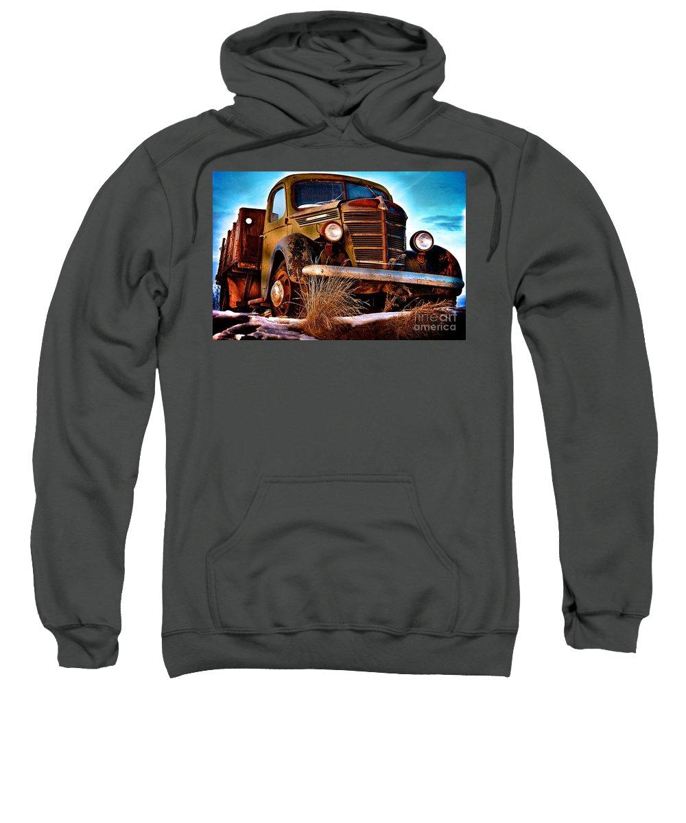 Antique Sweatshirt featuring the photograph Vintage Farm Truck by DJ MacIsaac