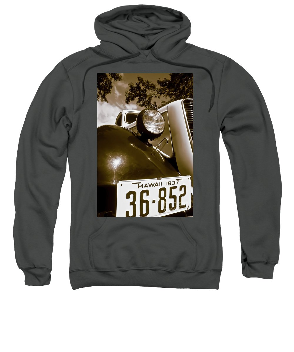 1937 Ford Sweatshirt featuring the photograph 1937 Ford Pickup Truck Maui Hawaii by Jim Cazel