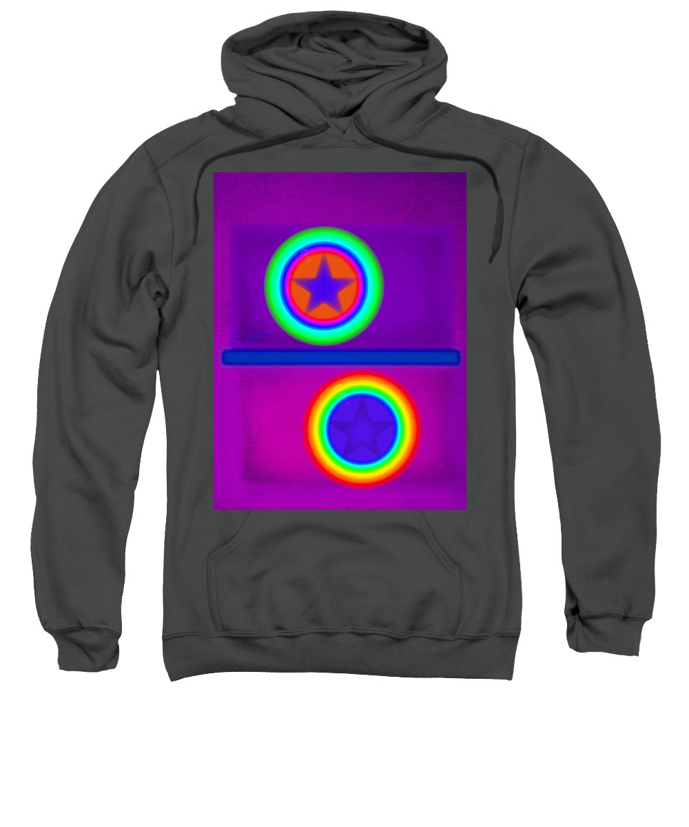 Balance Sweatshirt featuring the painting Violet Circus by Charles Stuart