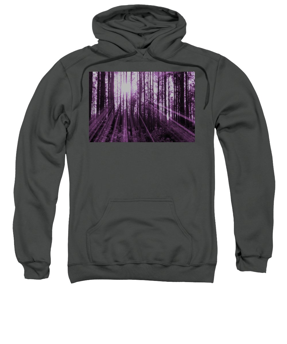 Violet Sweatshirt featuring the photograph Violet Rays by Tina Meador