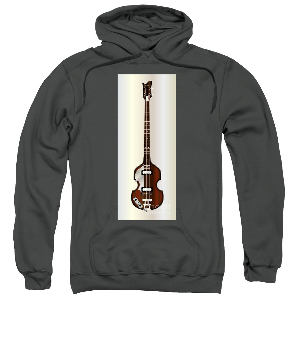 Violin Sweatshirt featuring the digital art Violin Style Bass Guitar by Bigalbaloo Stock