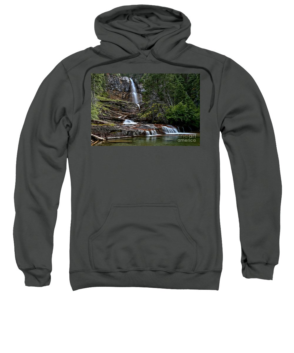 Virginia Falls Sweatshirt featuring the photograph Virginia Falls In The Pool by Adam Jewell