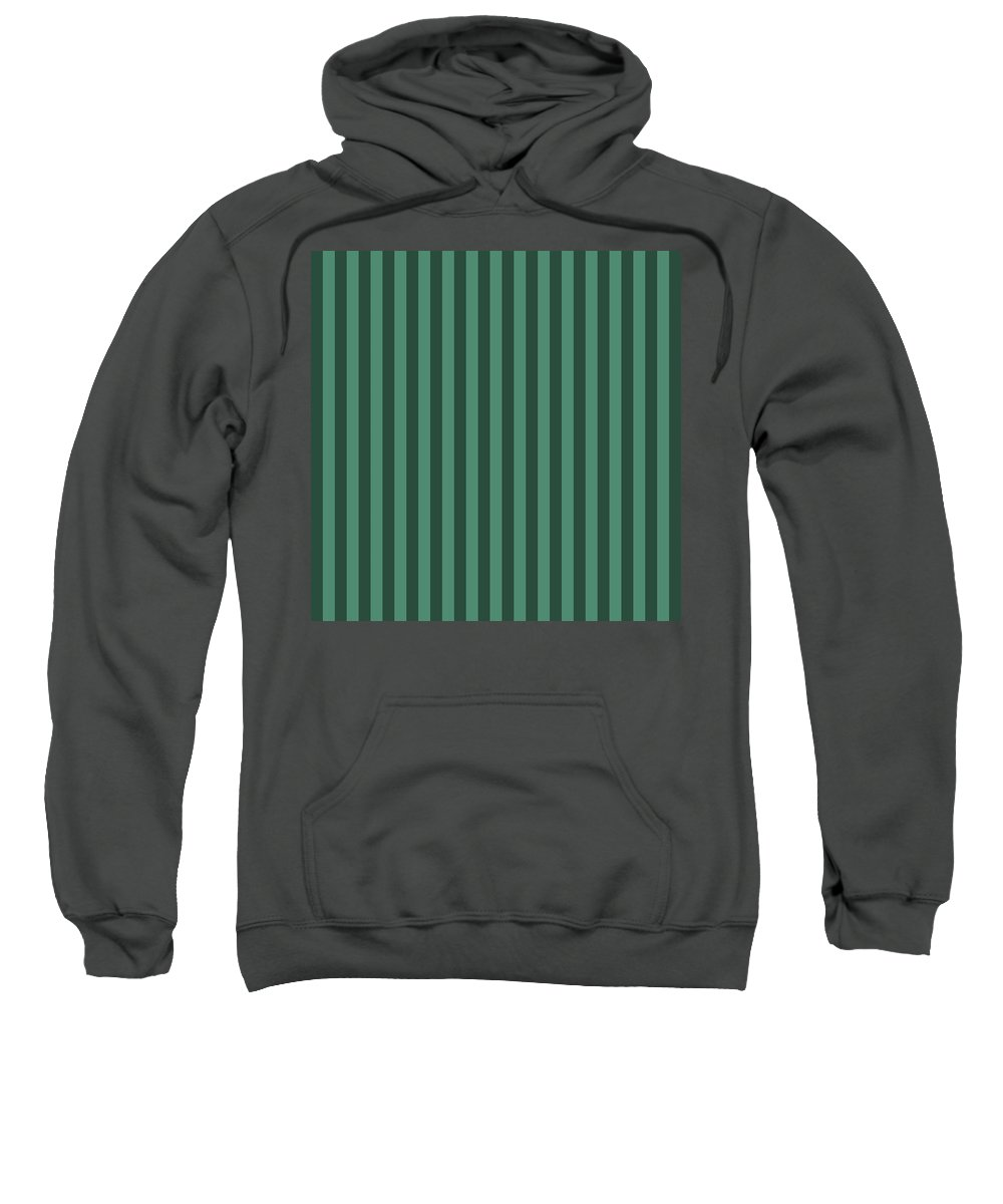 Viridian Sweatshirt featuring the digital art Viridian Green Striped Pattern Design by Ross