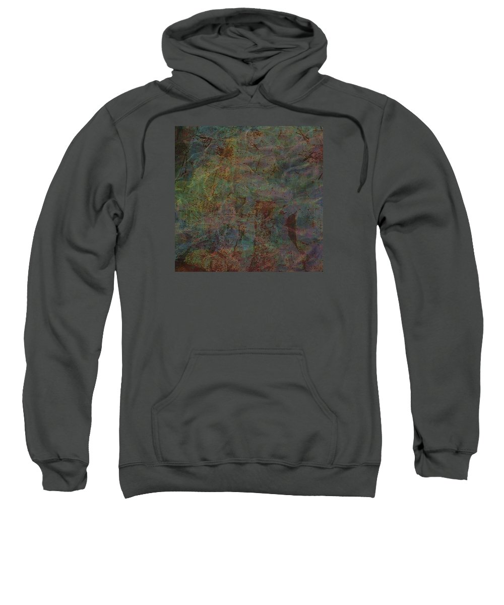 Natural Sweatshirt featuring the painting Vision by Charlie Kaser