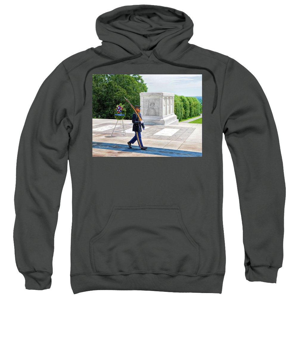 Soldier Sweatshirt featuring the digital art Visions Of The Past 2 by Garland Johnson