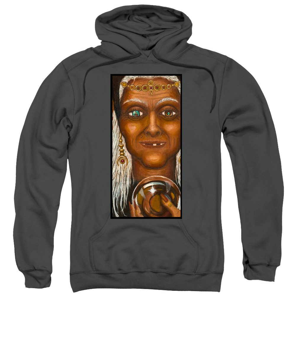 Fantasy Sweatshirt featuring the digital art Visions by Roz Eve