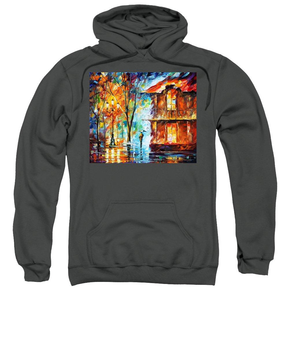 Afremov Sweatshirt featuring the painting Vitebsk by Leonid Afremov