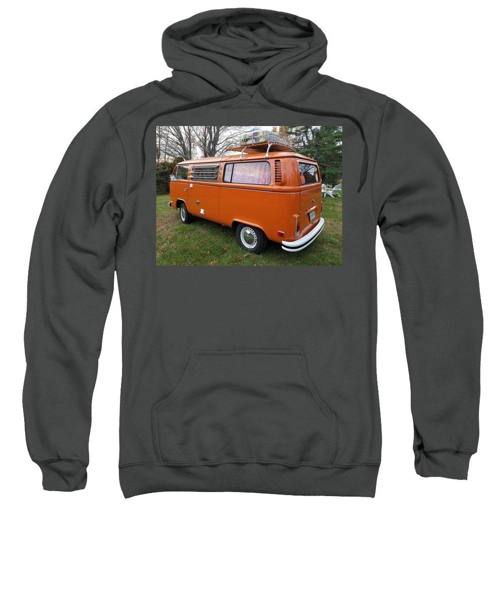 Volkswagen Bus T2 Westfalia Sweatshirt featuring the photograph Volkswagen Bus T2 Westfalia by Mariel Mcmeeking