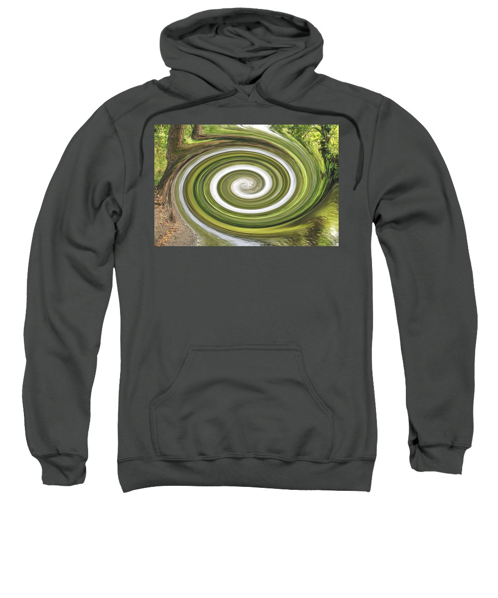 Abstract Sweatshirt featuring the photograph Vortex - River Frays Abstract by Chris Day