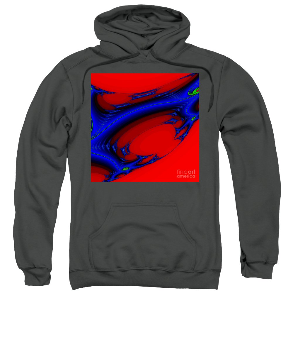 Clay Sweatshirt featuring the digital art Vortex Extreme Fractal by Clayton Bruster