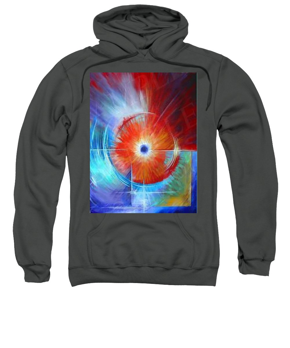 Clouds Sweatshirt featuring the painting Vortex by James Christopher Hill