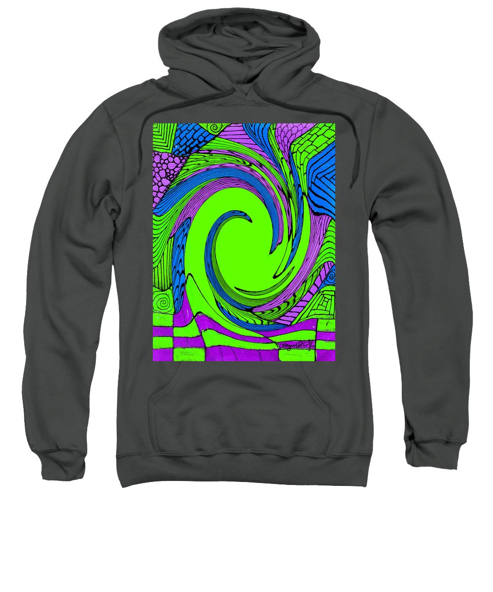 Vortex Sweatshirt featuring the painting Vortex by Wayne Potrafka