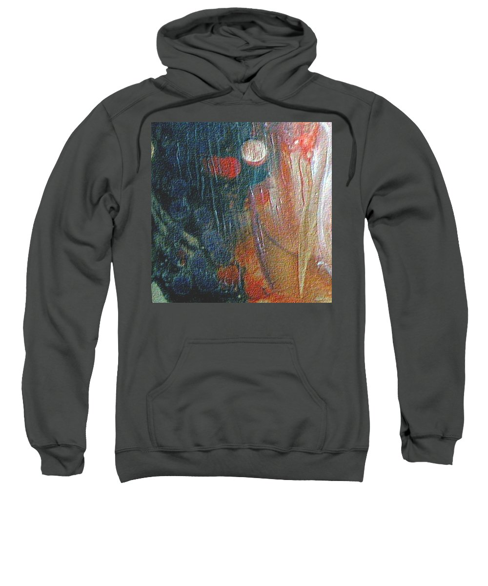 Double Moon Sweatshirt featuring the painting W 003 - Double Moon by Dragica Micki Fortuna