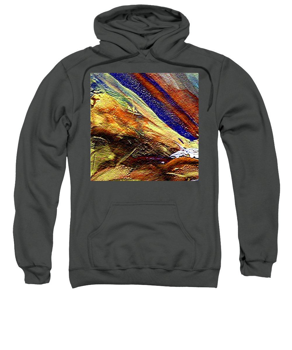 Encaustic Mixed Media Sweatshirt featuring the mixed media W 007 by Dragica Micki Fortuna