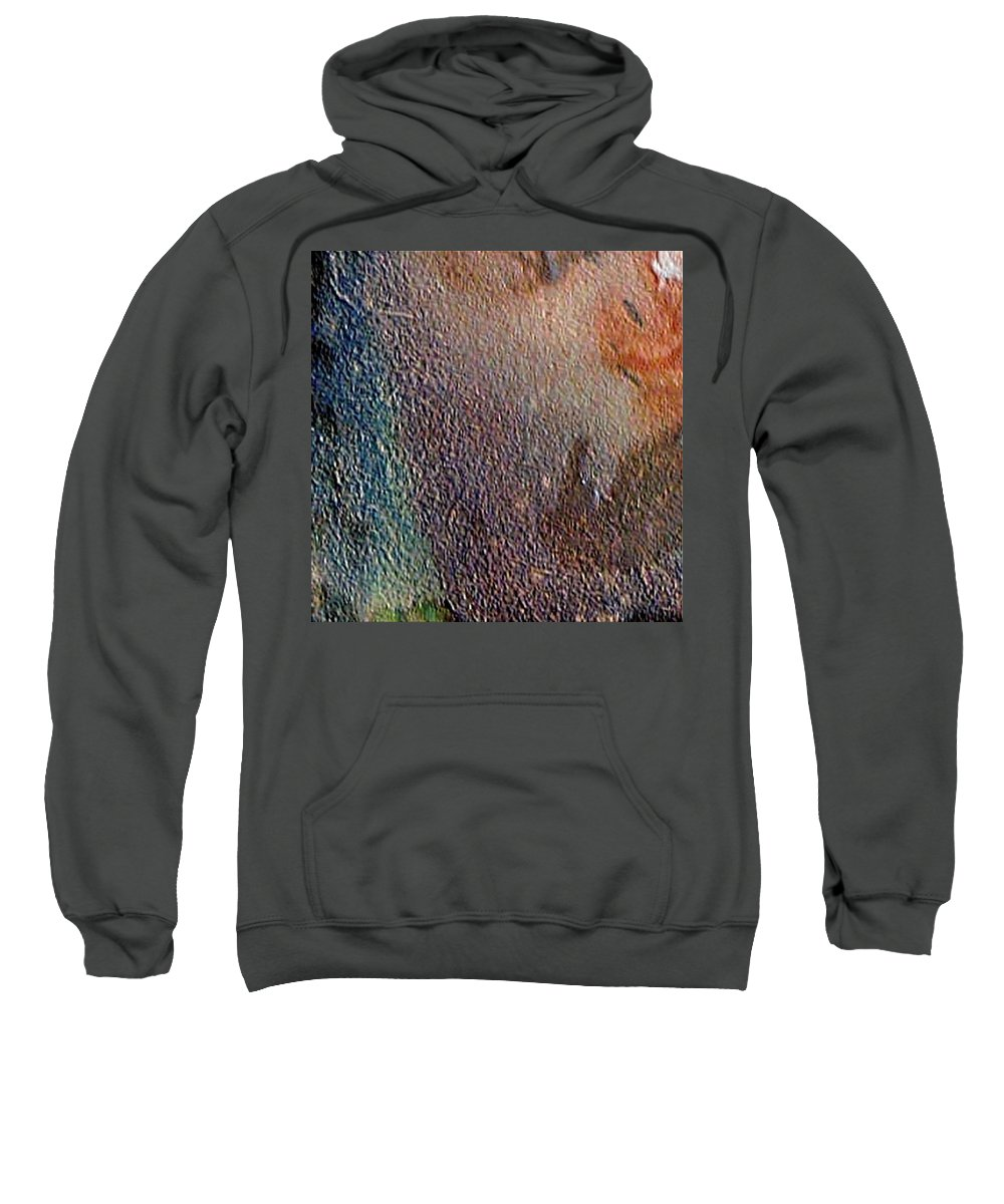 Abstract Landscape Sweatshirt featuring the painting W 012 - No One's Land by Dragica Micki Fortuna