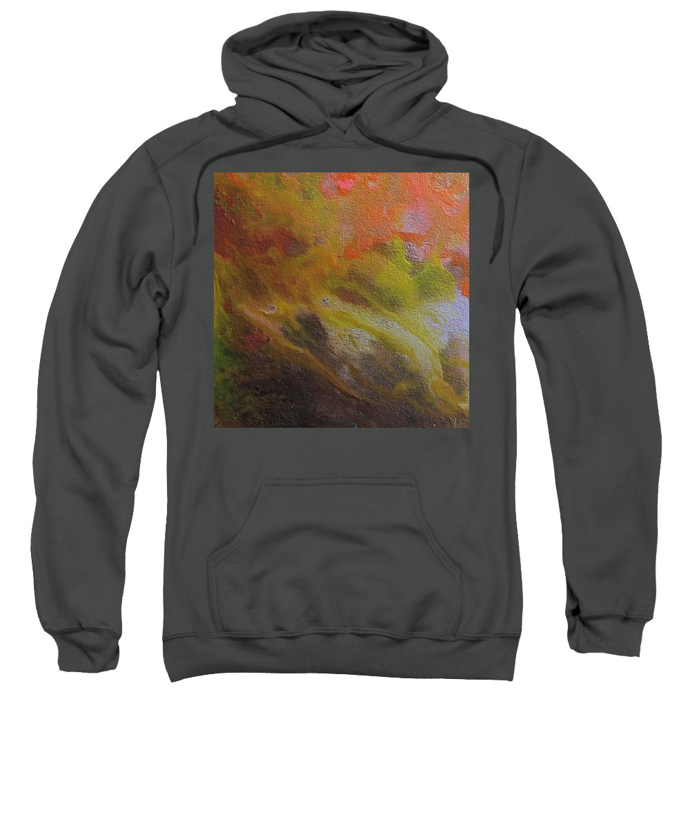 Abstract Sweatshirt featuring the painting W 051 by Dragica Micki Fortuna