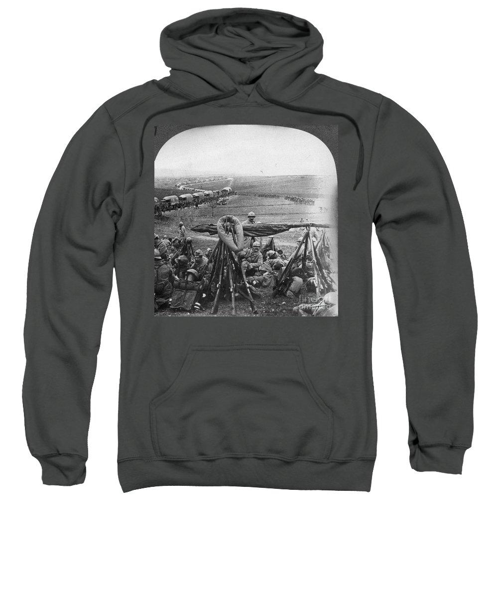 1916 Sweatshirt featuring the photograph W W I: Battle Of Verdun by Granger
