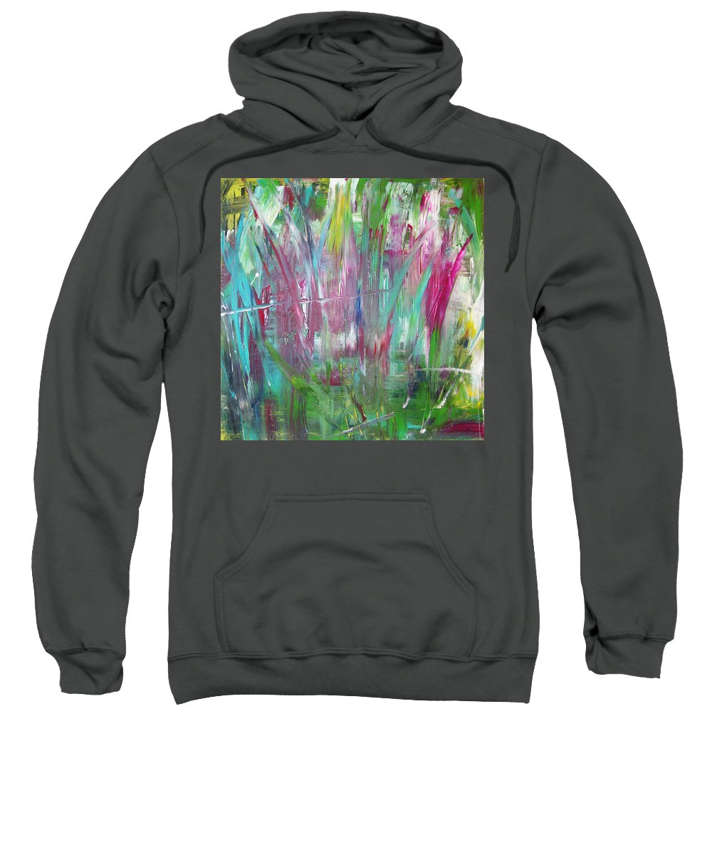 Abstract Painting Sweatshirt featuring the painting W43 - Smell II by Kunst mit Herz Art with Heart