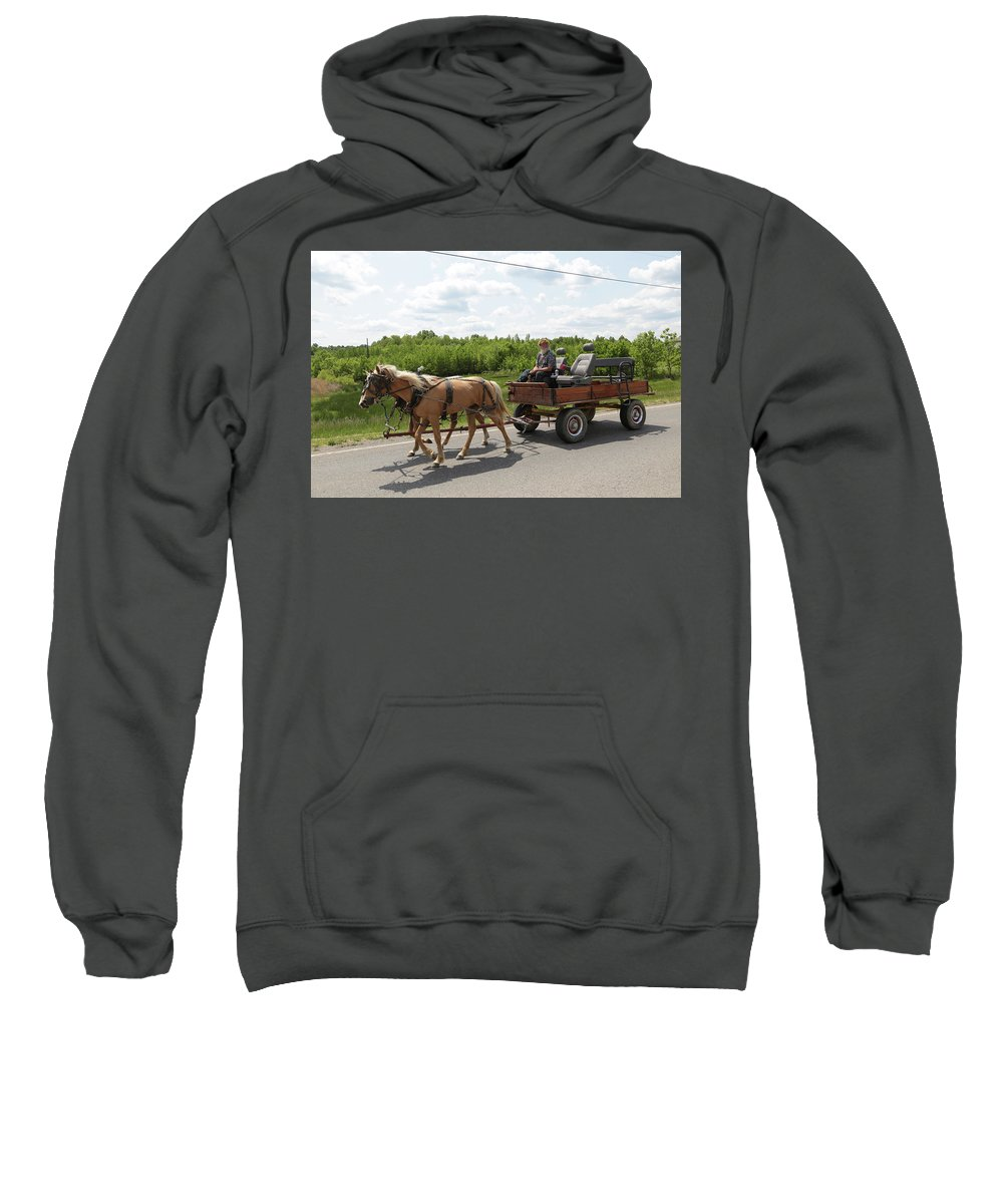 Mule Sweatshirt featuring the photograph Wagon 10 by Dwight Cook