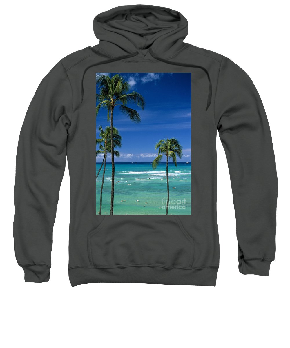 Afternoon Sweatshirt featuring the photograph Waikiki Seascape by Carl Shaneff - Printscapes