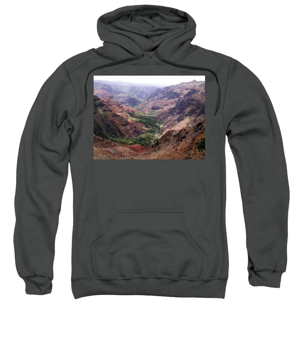 Waimea Sweatshirt featuring the photograph Waimea Canyon 1 by Amy Fose