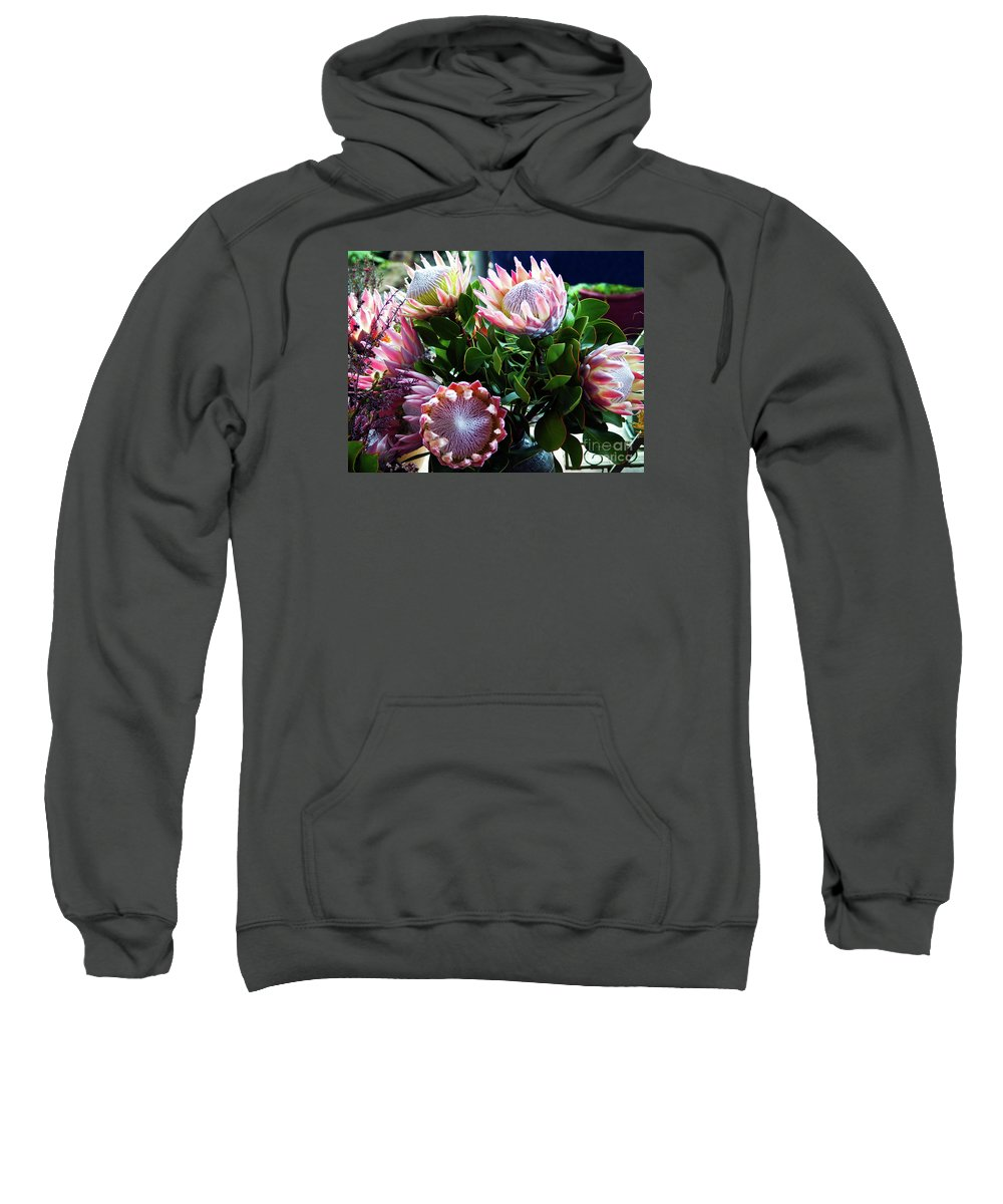 Flower Photography Sweatshirt featuring the photograph Waiting For A Buyer by Patricia Griffin Brett