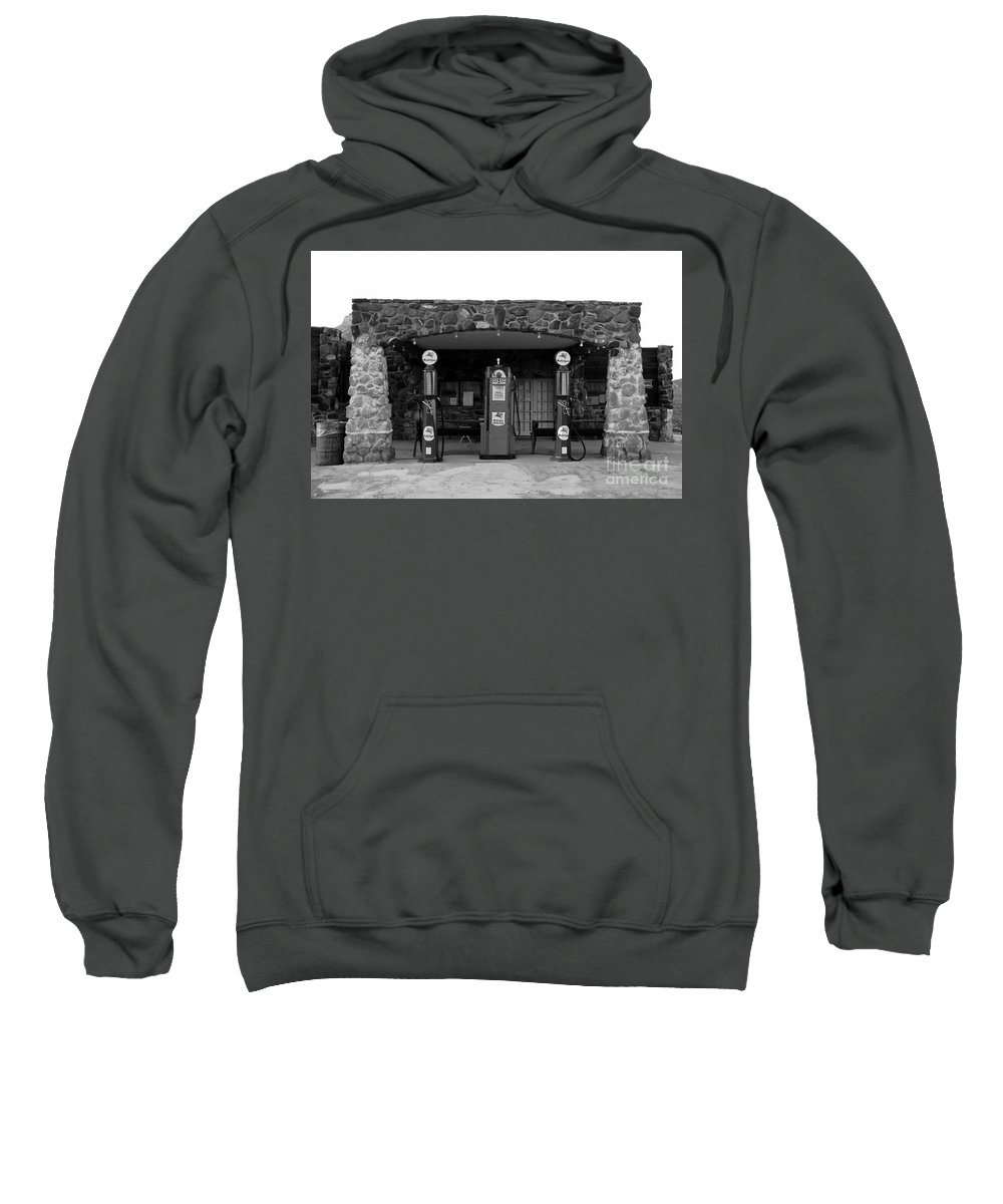 Route 66 Sweatshirt featuring the photograph Waiting For Business by David Lee Thompson