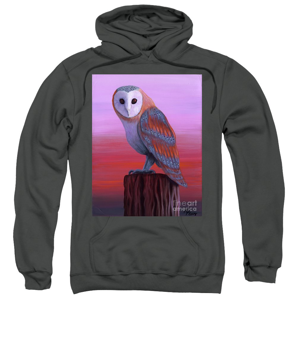 Rebecca Sweatshirt featuring the painting Waiting For Dusk by Rebecca Parker