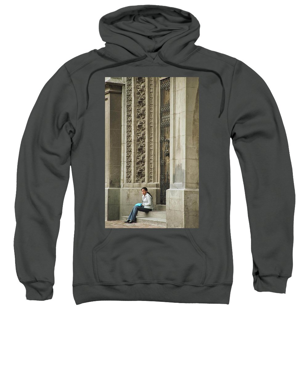Church Sweatshirt featuring the photograph Waiting For God by Kathy McClure