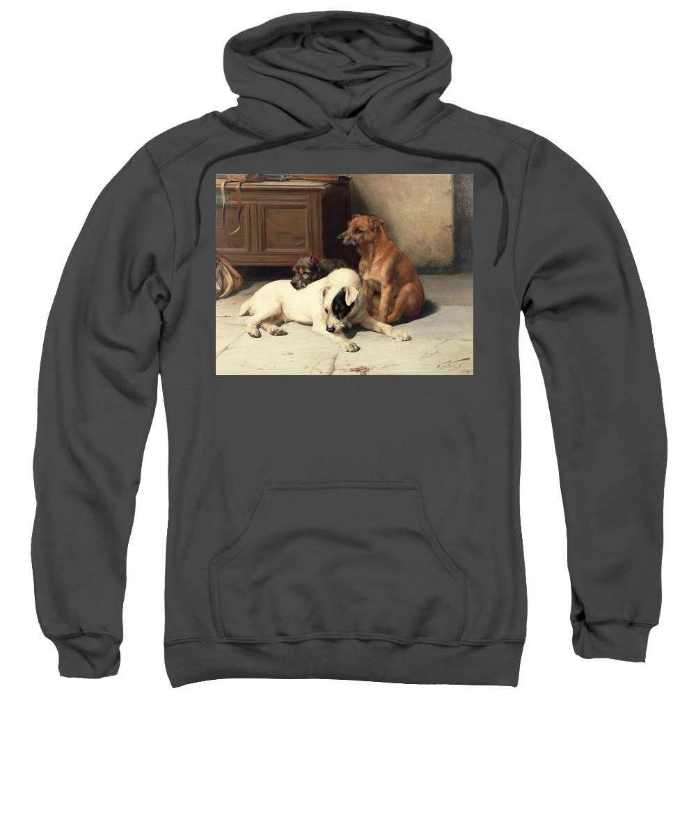 Waiting For Master Sweatshirt featuring the painting Waiting For Master by William Henry Hamilton Trood